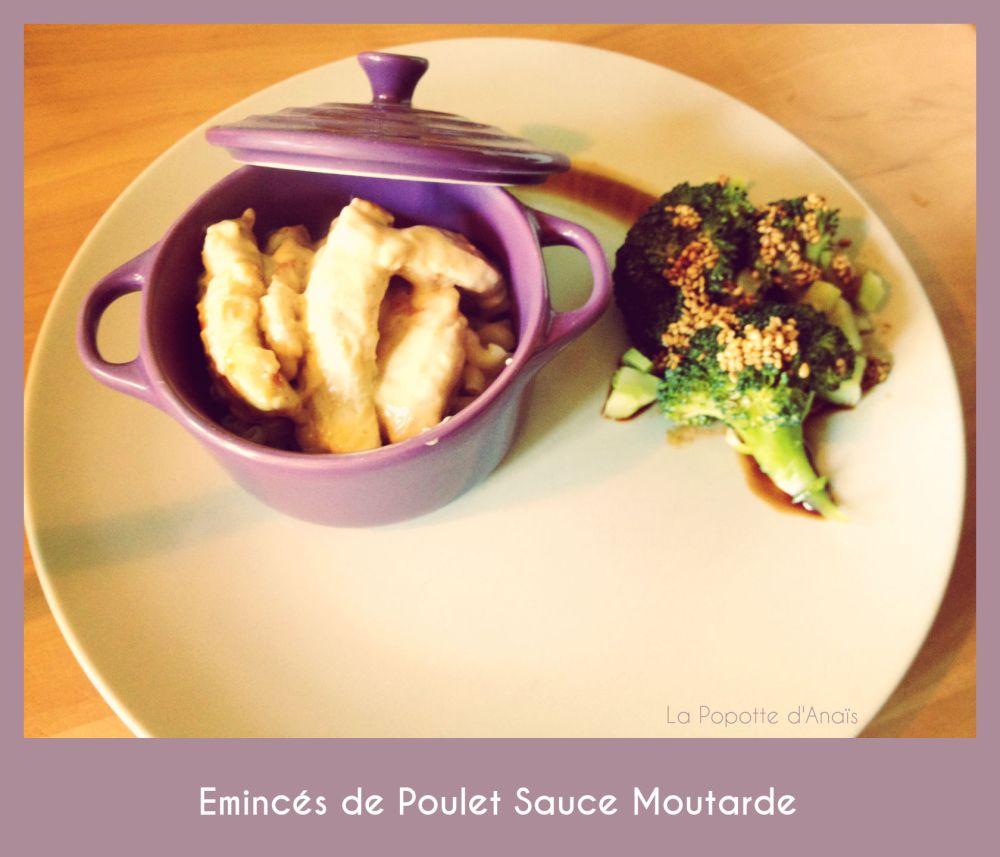 Emincés de Poulet Sauce Moutarde
