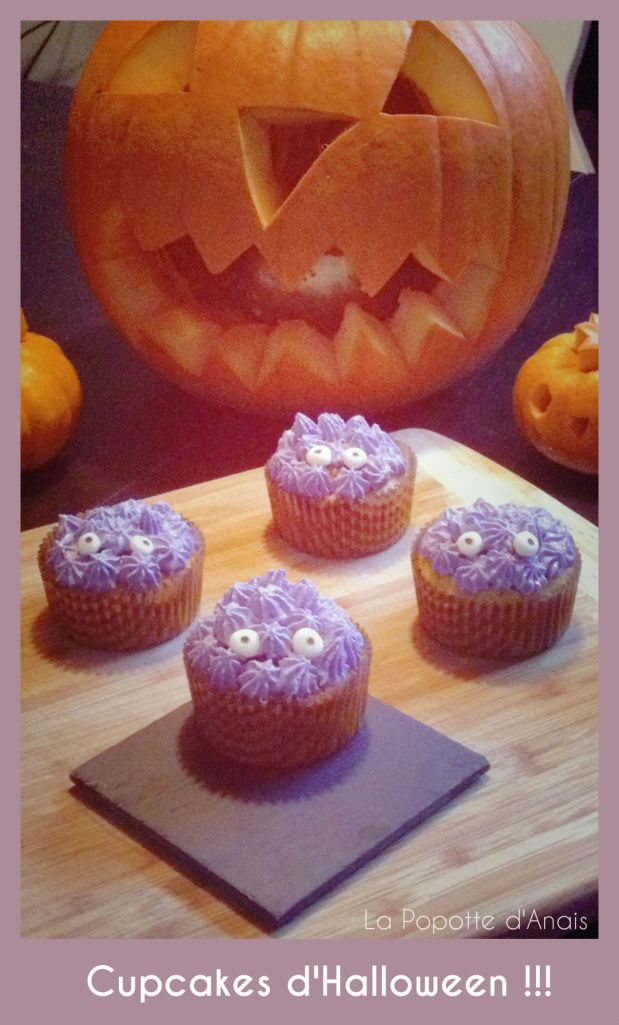 Cupcakes Monstres d'Halloween !!