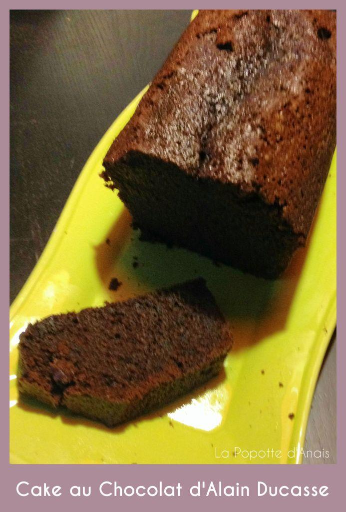 Cake au Chocolat d'Alain Ducasse