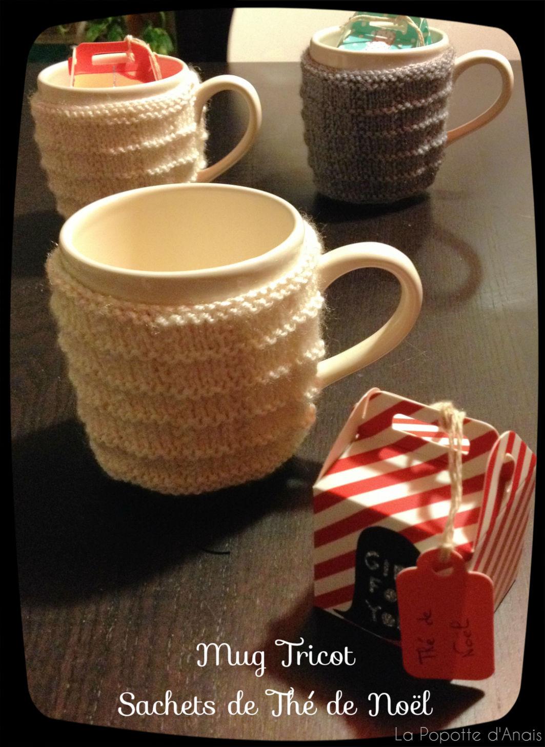 diy mug tricot et sachets de th de no l la popotte d 39 ana s. Black Bedroom Furniture Sets. Home Design Ideas