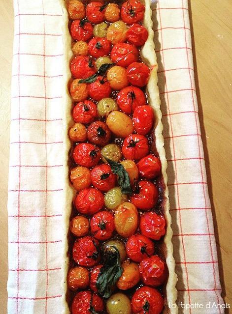 Tarte aux Tomates Cerises et Tapenade