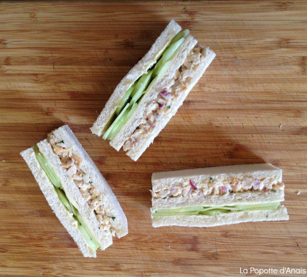 Sandwich Poulet, Noix de Cajou et Citron