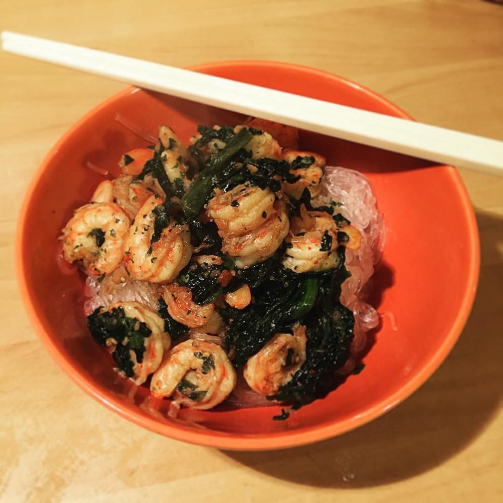 Crevettes à l'ail et gingembre